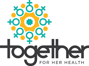 Together - For her health Logo